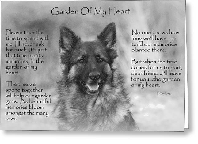 Animal Paw Print Greeting Cards - Garden Of My Heart Greeting Card by Sue Long