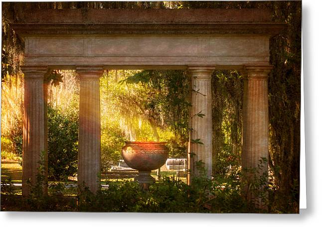 Garden Of Resurrection Greeting Card by Mark Andrew Thomas