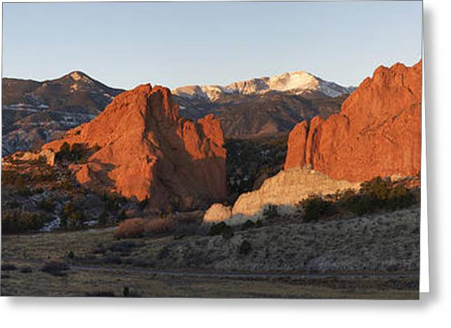 Rocky In Spring Greeting Cards - Garden of the Gods Greeting Card by Aaron Spong