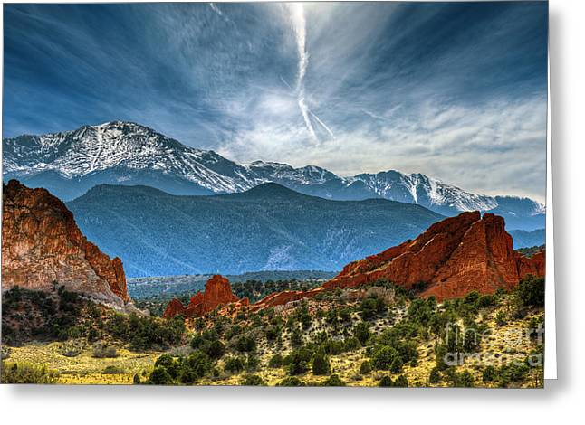 Hdr Landscape Photographs Greeting Cards - Garden of the Gods Greeting Card by Brandon Alms
