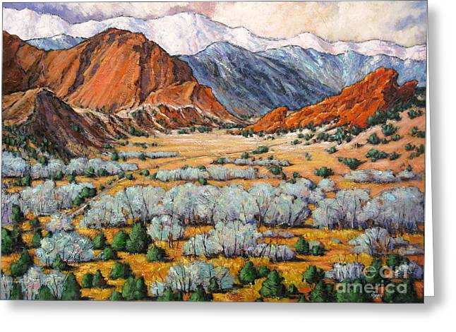 Garden Of The Gods Co Greeting Card by Vickie Fears