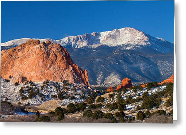 Panos Greeting Cards - Garden of the Gods Greeting Card by Darren  White