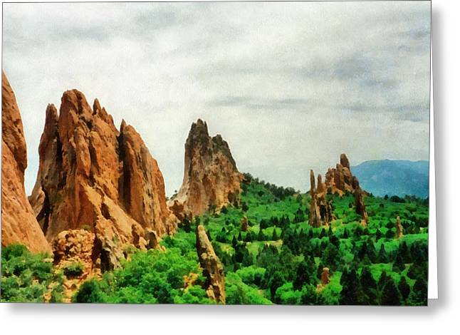Garden Of The Gods Greeting Card by Michelle Calkins