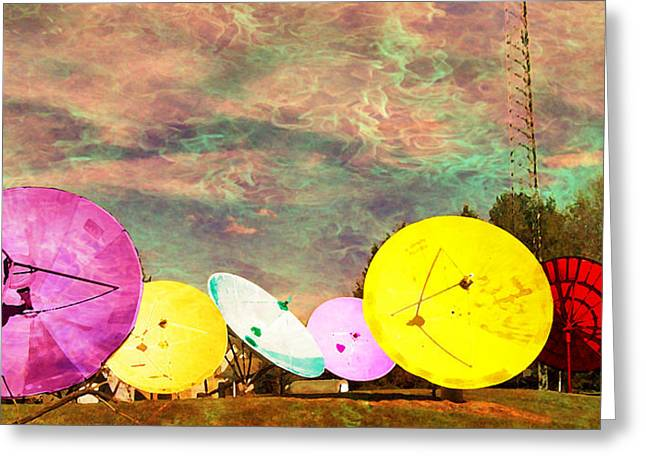 Garden of Unearthly Delights II Greeting Card by MJ Olsen