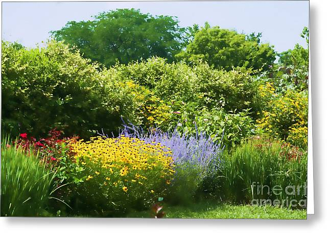 Old Digital Art Greeting Cards - Garden - Old Fashioned Beauty - Luther Fine Art Greeting Card by Luther Fine Art