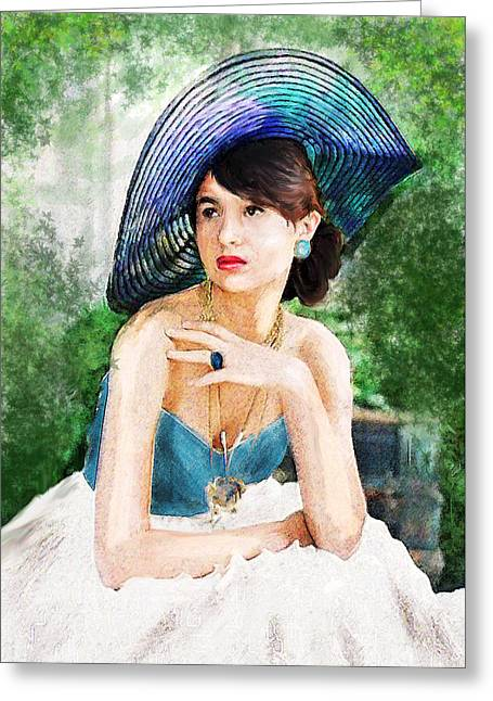 Pensive Digital Greeting Cards - Garden Party Greeting Card by Jane Schnetlage