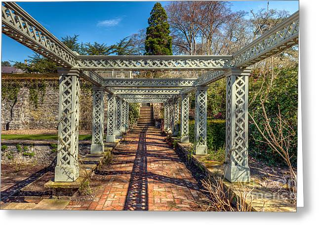 National Digital Art Greeting Cards - Garden Path Greeting Card by Adrian Evans