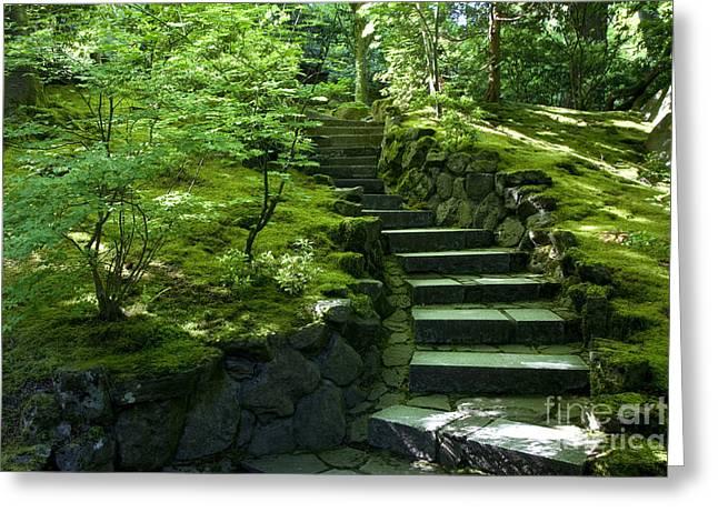 Garden Path Greeting Card by Brian Jannsen