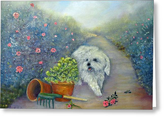 Garden Path Greeting Card by Loretta Luglio