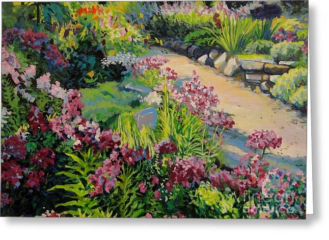 Bukowski Greeting Cards - Garden Path Greeting Card by William Bukowski