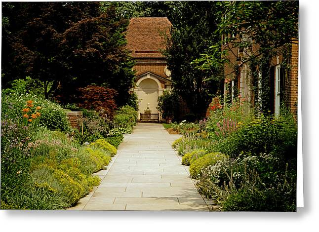 Diplomacy Greeting Cards - Garden Pathway Greeting Card by Mountain Dreams