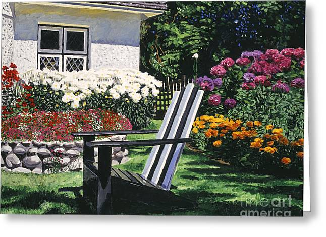 Garden Resting Place Greeting Card by David Lloyd Glover