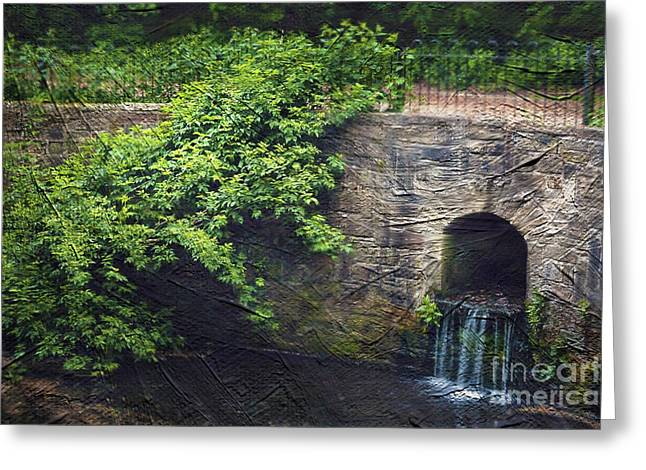 Beautiful Creek Greeting Cards - Garden Scene Greeting Card by Svetlana Sewell