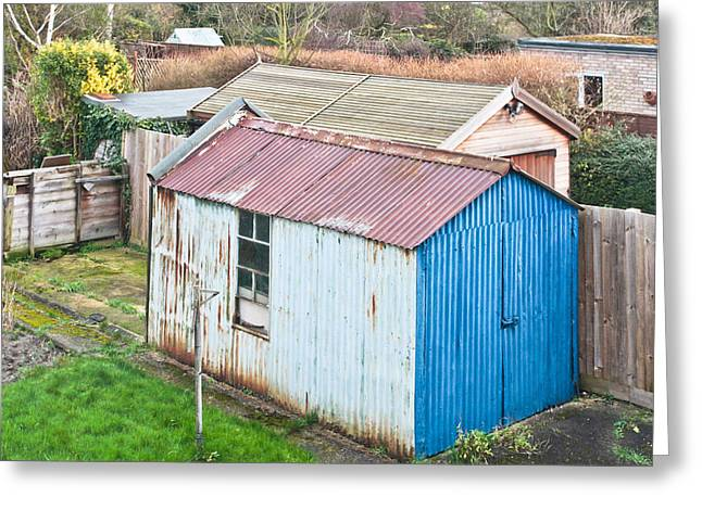 Shed Photographs Greeting Cards - Garden shed Greeting Card by Tom Gowanlock
