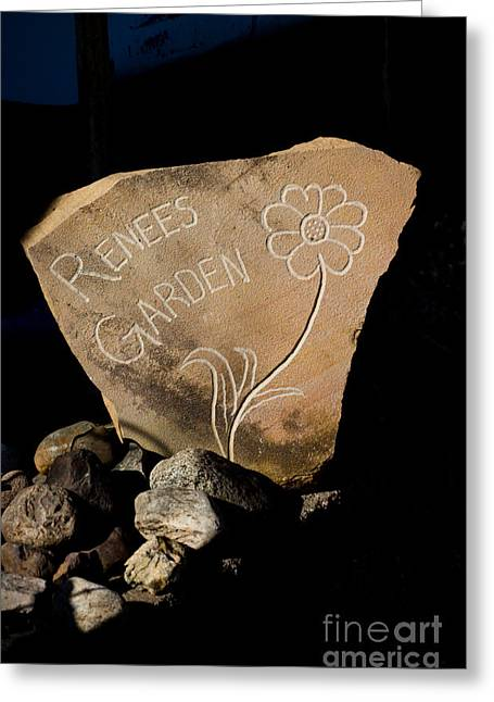 Stone Age Art Greeting Cards - Garden Signs Greeting Card by The Stone Age