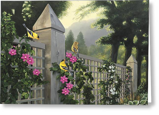 Garson Greeting Cards - Garden Song Greeting Card by Roger Dullinger