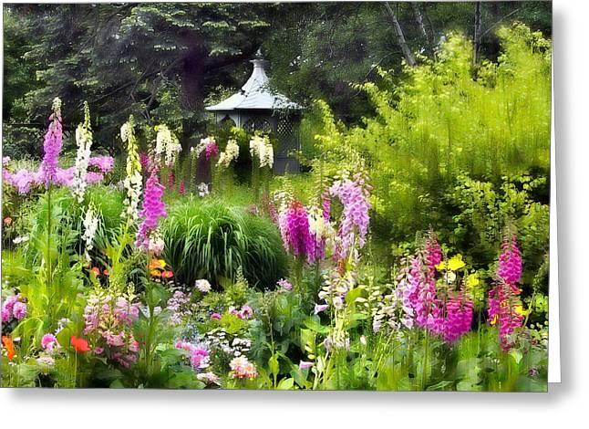 Foxglove Flowers Greeting Cards - Garden Splendor Greeting Card by Jessica Jenney