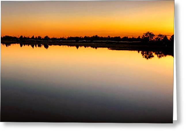 Garden Scene Photographs Greeting Cards - Garden State Sunset Greeting Card by Olivier Le Queinec