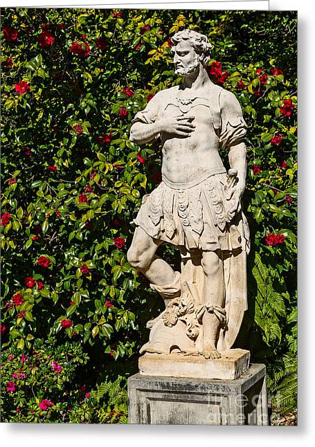 Greek Sculpture Greeting Cards - Garden Statue Greeting Card by Jamie Pham