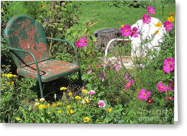 Garden Talk Greeting Card by Tina M Wenger