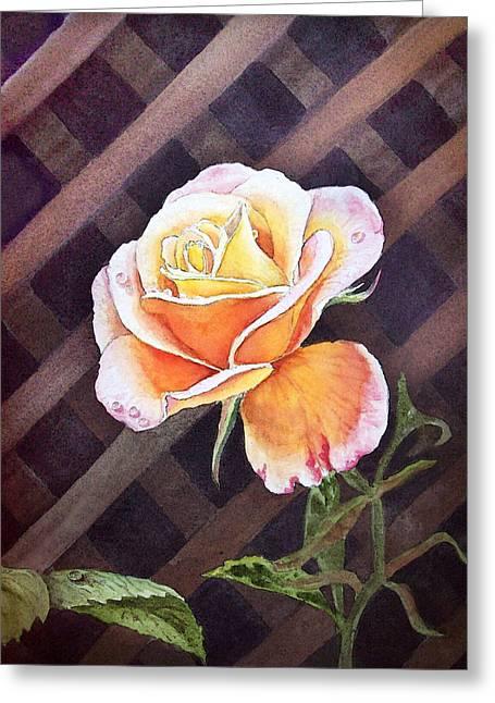 Garden Tea Rose Greeting Card by Irina Sztukowski