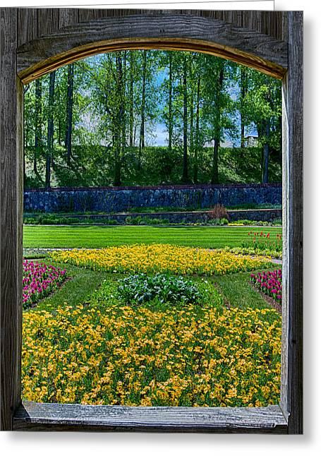 Appalachia Greeting Cards - Garden Through an Open Window Greeting Card by John Haldane