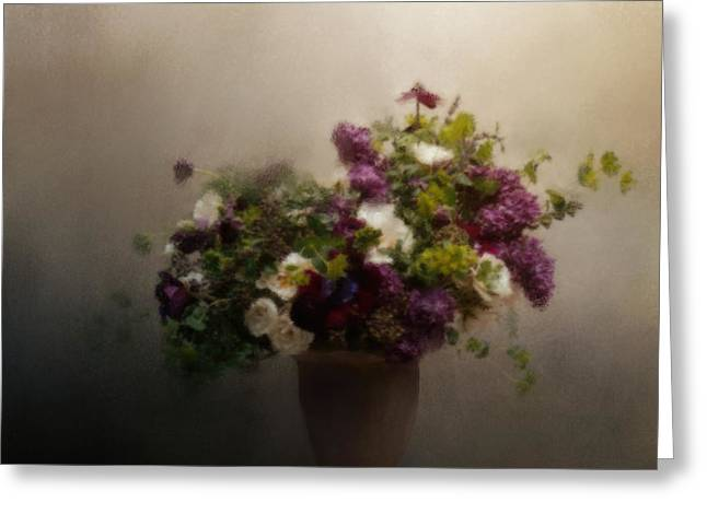 Homes Pastels Greeting Cards - Garden Treasures Greeting Card by Jai Johnson