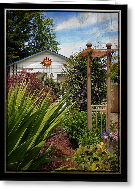 Trellis Greeting Cards - Garden Trellis Greeting Card by Artzmakerz