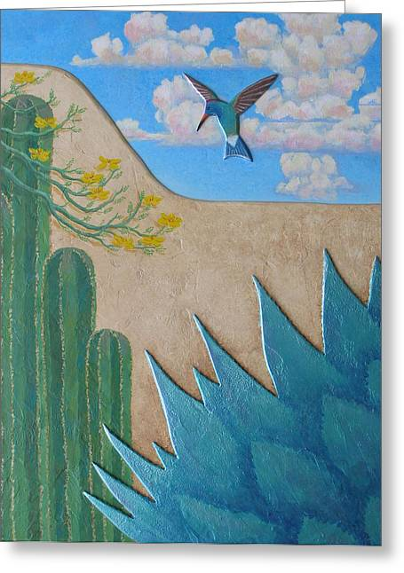 Desert Reliefs Greeting Cards - Garden Wall Greeting Card by Jeff  Sartain