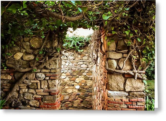 Photoart Greeting Cards - Garden Walls Greeting Card by Lutz Baar