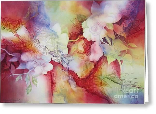 Gardenias Greeting Card by Deborah Ronglien