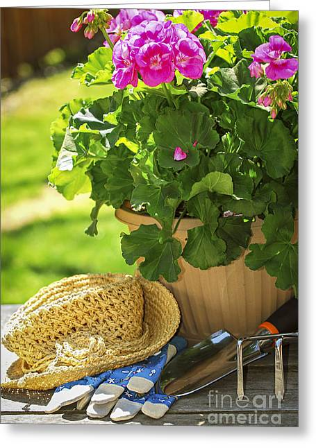 Spade Greeting Cards - Gardening Greeting Card by Elena Elisseeva