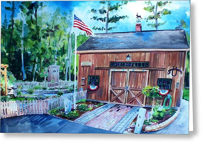 Shed Paintings Greeting Cards - Gardening Shed Greeting Card by Scott Nelson
