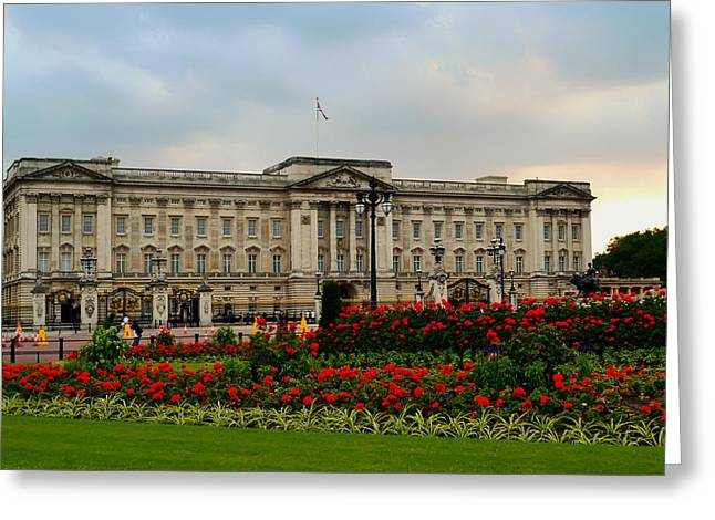 Buckingham Palace Greeting Cards - Gardens of Buckingham Palace Greeting Card by Mountain Dreams