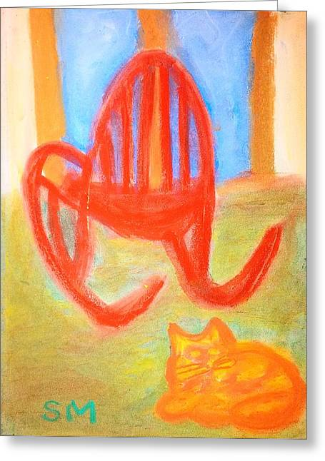 Garfie Rocking Chair And The Sky Greeting Card by Sylvia Masri