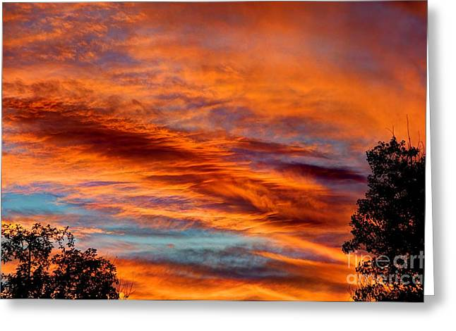 Garfield County Greeting Cards - Garfield County Red Greeting Card by Bob Hislop