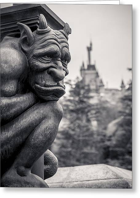 Disneyland Park Greeting Cards - Gargoyle Greeting Card by Adam Romanowicz