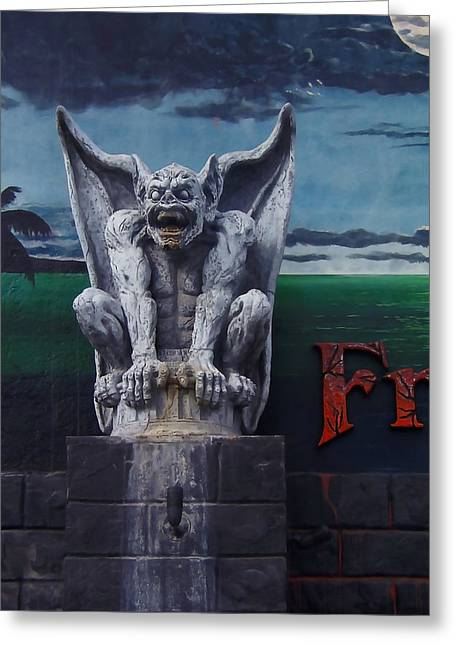 Santa Cruz Greeting Cards - Gargoyle Greeting Card by Art Block Collections