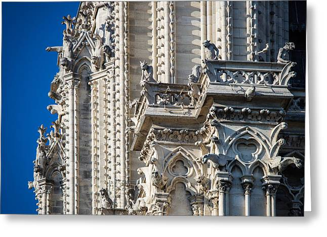 Catholic Art Greeting Cards - Gargoyles Greeting Card by Inge Johnsson