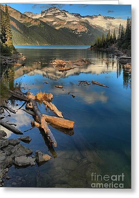 Candian Greeting Cards - Garibaldi Lake Portrait Greeting Card by Adam Jewell