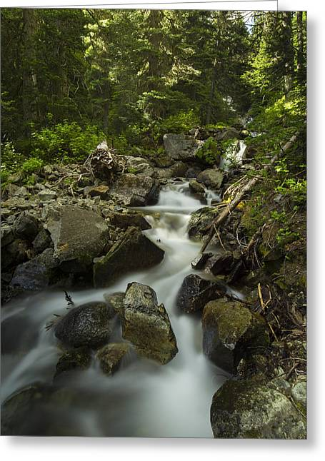 Backpacking Greeting Cards - Garibaldi Water Greeting Card by Aaron S Bedell