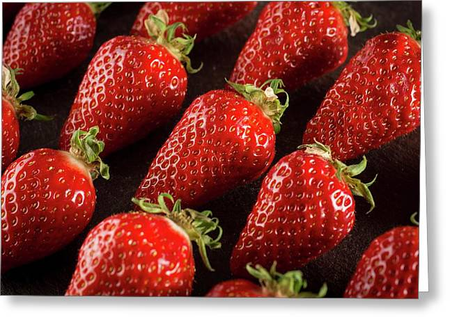 Gariguette Strawberries Greeting Card by Aberration Films Ltd