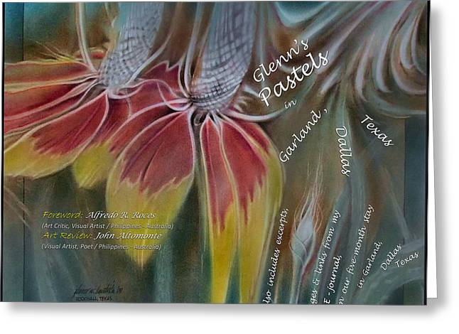 Art Book Pastels Greeting Cards - Garland Pastel 2009 Book Cover Greeting Card by Glenn Bautista
