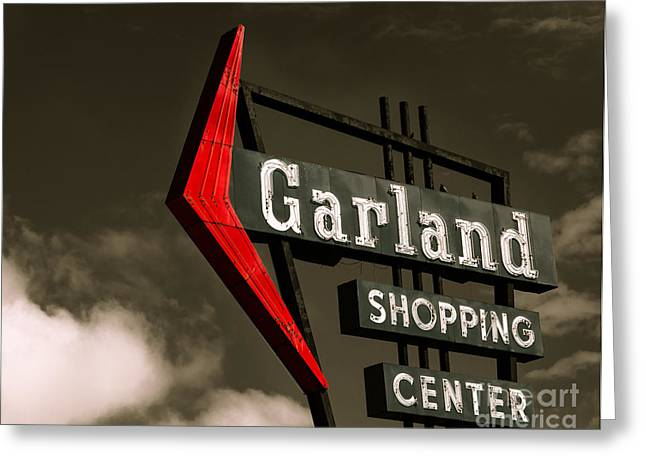 Arrow Abstract Greeting Cards - Garland Texas Shopping Greeting Card by Sonja Quintero