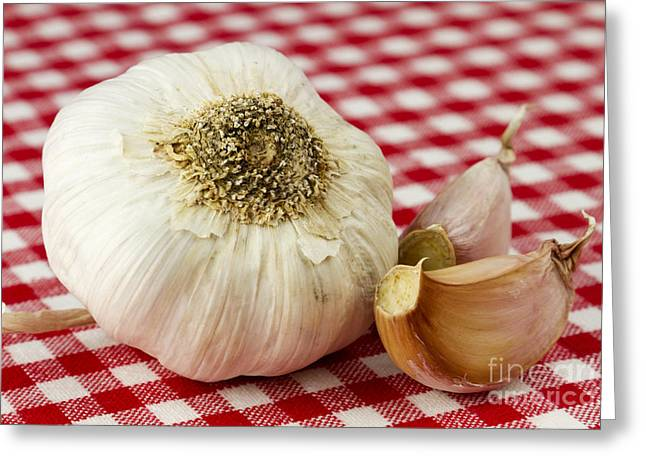 Pungent Greeting Cards - Garlic Greeting Card by Blink Images