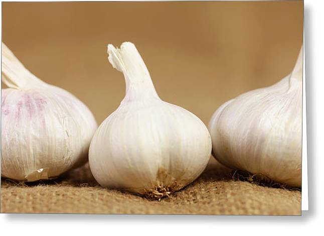 Essen Greeting Cards - Garlic bulbs Greeting Card by Falko Follert