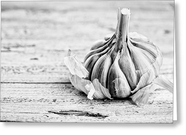 Ingredients Greeting Cards - Garlic Greeting Card by Nailia Schwarz