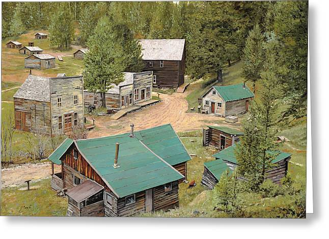 Ghost Greeting Cards - Garnet in Montana Greeting Card by Guido Borelli