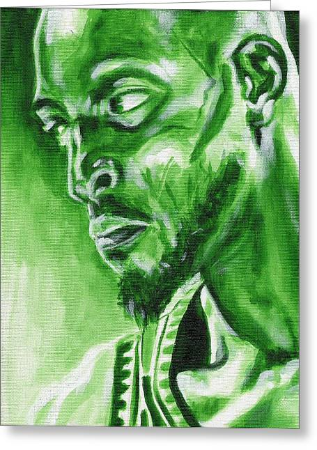 Kevin Garnett Art Greeting Cards - Garnetts Glaze Greeting Card by Paul Smutylo