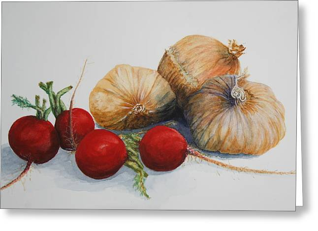 Essential Paintings Greeting Cards - Garnishes Greeting Card by Jan Lowe